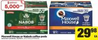 Maxwell House Or Nabob Coffee PODS - 55/60's