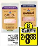 Maple Leaf Natural Selections Deli Sliced Meat