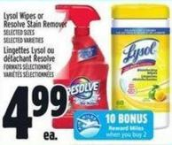 Lysol Wipes Or Resolve Stain Remover