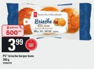 PC Brioche Burger Buns - 300 g