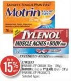 Livrlief Pain Relief Cream (50g-100g) Mortin (16's) or Tylenol (16's-24's) Pain Relief Products