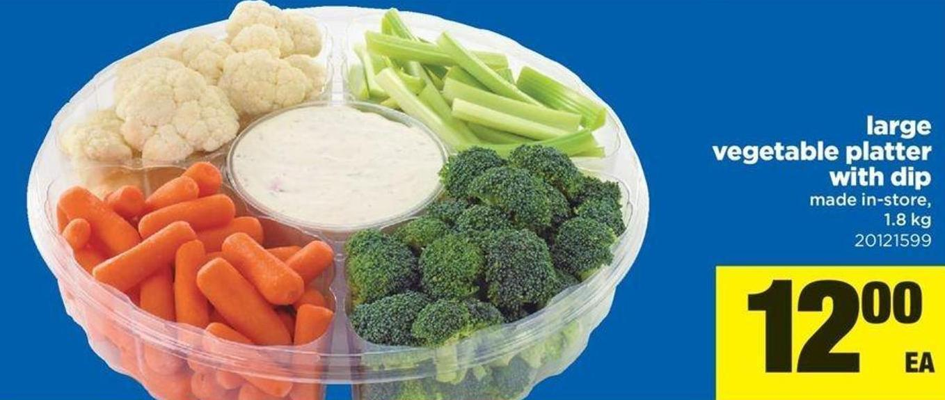 Large Vegetable Platter With Dip - 1.8 Kg