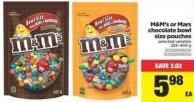 M&m's Or Mars Chocolate Bowl Size Pouches - 324-400 g