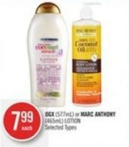 Ogx (577ml) or Marc Anthony (465ml) Lotion