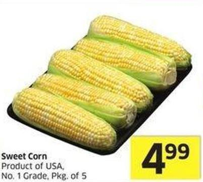 Sweet Corn Product of USA - No. 1 Grade - Pkg of 5