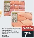 PC Free From Chicken Breast Or Thighs - Family Size Air Chilled - Boneless Skinless