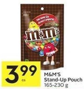 M&m's Stand-up Pouch 165-230 g