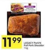 Legacy Pork'n Pull Pork Shoulder 1 Kg