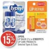 Lypsyl Lip Balm (2's) or O'keeffe's Lip Care Products