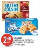Kellogg's Nutri-grain - Pop-tarts or Rice Krispies Squares 8's