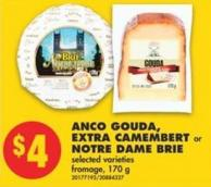 Anco Gouda - Extra Camembert or Notre Dame Brie - 170 g