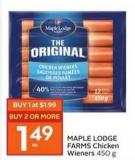 Maple Lodge Farms Chicken Wieners 450 g