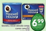 Maxwell House Ground Coffee Or Coffee Capsules