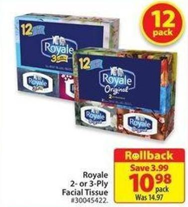 Royale 2-or 3-ply Facial Tissue
