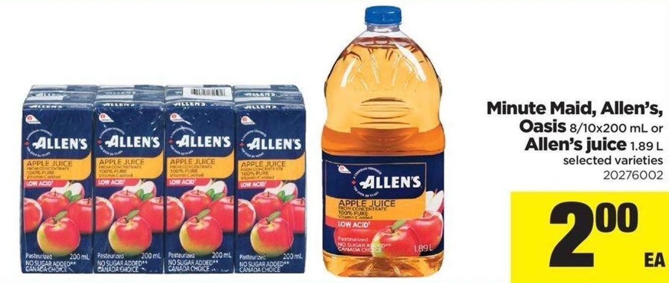 Minute Maid - Allen's - Oasis - 8/10x200 Ml Or Allen's Juice - 1.89 L