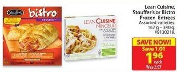 Lean Cuisine - Stouffer's or Bistro Frozen Entrees