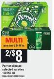 Perrier Slim Can - 10x250 mL