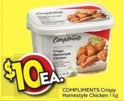 Compliments Crispy Homestyle Chicken On Sale