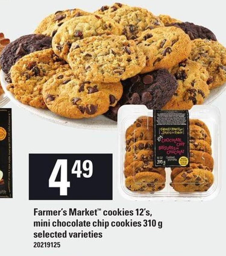 Farmer's Market Cookies 12's - Mini Chocolate Chip Cookies - 310 g