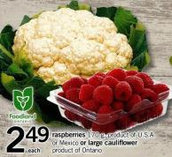 Raspberries - 170 G Or Mexico Or Large Cauliflower