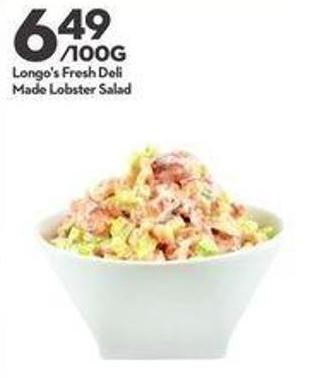 Longo's Fresh Deli Made Lobster Salad