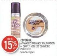 Covergirl Advanced Radiance Foundation or Simply Ageless Cosmetic Products