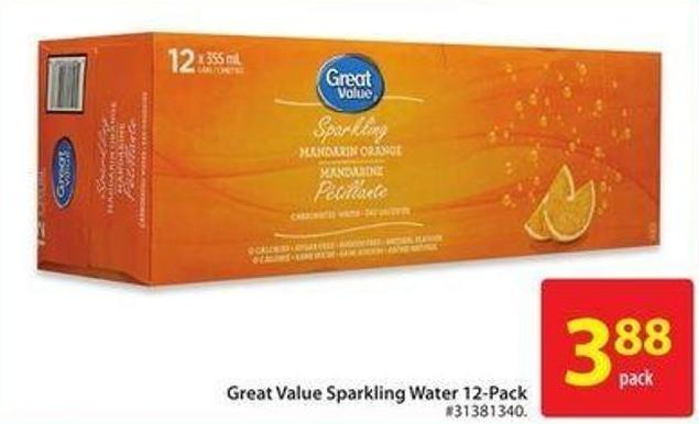 Great Value Sparkling Water 12 Pack