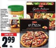 Irresistibles Frozen Pizza Bil Commun Selected Sizes Or Naturalia Peanut Butter 750 G