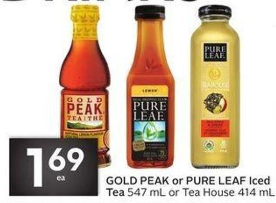 Gold Peak or Pure Leaf Iced Tea