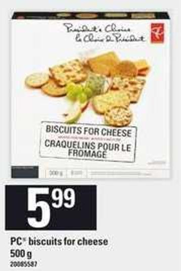 PC Biscuits For Cheese