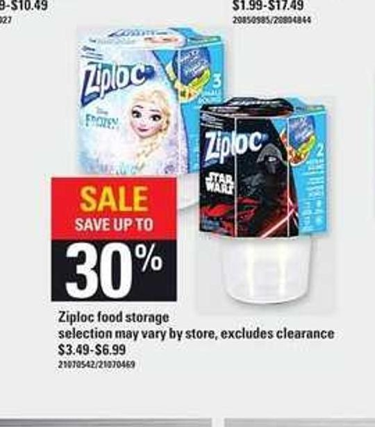 Ziploc Food Storage