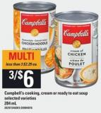 Campbell's Cooking - Cream Or Ready To Eat Soup - 284 Ml