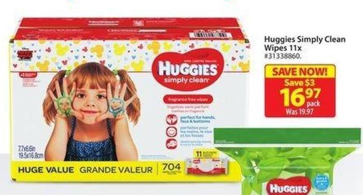 Huggies Simply Clean Wipes 11x