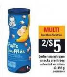 Gerber Mainstream Snacks Or Entrées - 40-192 g