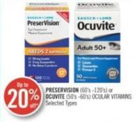 Preservision (60's-120's) Or Ocuvite (50's-60's) Ocular Vitamins