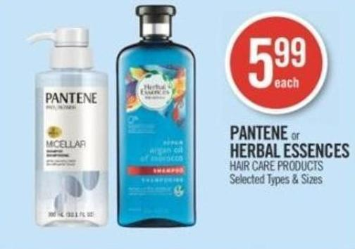 Pantene or Herbal Essences Hair Care Products