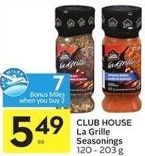 Club House La Grille Seasonings 120 - 203 g - 7 Air Miles Bonus Miles