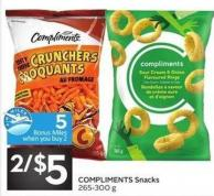 Compliments Snacks - 5 Air Miles Bonus Miles