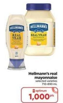 Hellmann's Real Mayonnaise - 710-890 mL