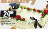 1/4 Slab Cake White Or Chocolate - 1.7 Kg