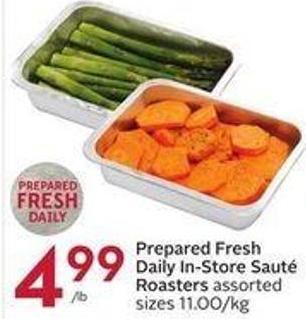 Prepared Fresh Daily In-store Sauté Roasters Assorted Sizes 11.00/kg