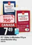 PC L'abbe Le Michabou - 175 G Or Sliced Raclette - 125 G