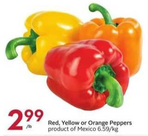 Red - Yellow or Orange Peppers