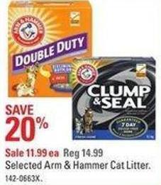 Selected Arm & Hammer Cat Litter