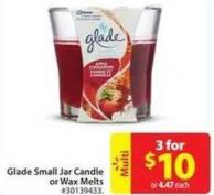Glade Small Jar Candle or Wax Melts