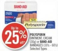 Polysporin Ointment - Cream (30g) or Band-aid Bandages (10's - 60's)