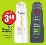 Dove Shampoo or Conditioner 355 ml
