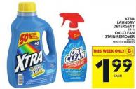 Xtra Laundry Detergent Or Oxi-clean Stain Remover