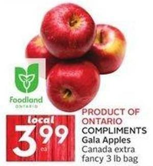 Compliments Gala Apples Canada Extra Fancy 3 Lb Bag