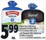 Natrel Fine-filtered Or Lactantia Purfiltre Milk 4 L 1% - 2% Or Skim - (Homo: $6.49)